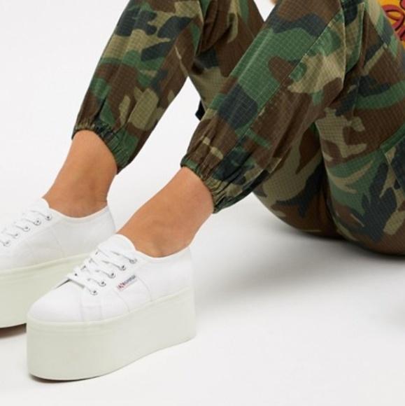 3de829c034eb Superga 2802 Extreme Flatform White Sneakers